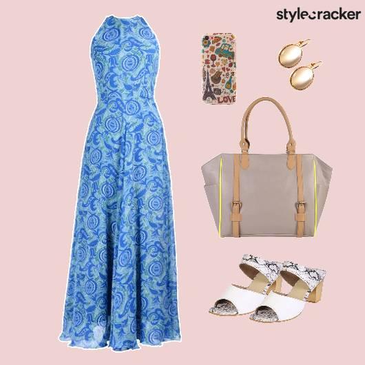 Dress Floral Print Shoes Bag - StyleCracker