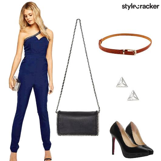 Jumpsuit Sling Belt Earrings  - StyleCracker