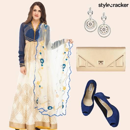 ChudidarSleeves Anarkali Cutout Earrings - StyleCracker