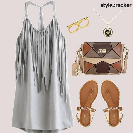 Fringe Dress Flats Weekender  - StyleCracker
