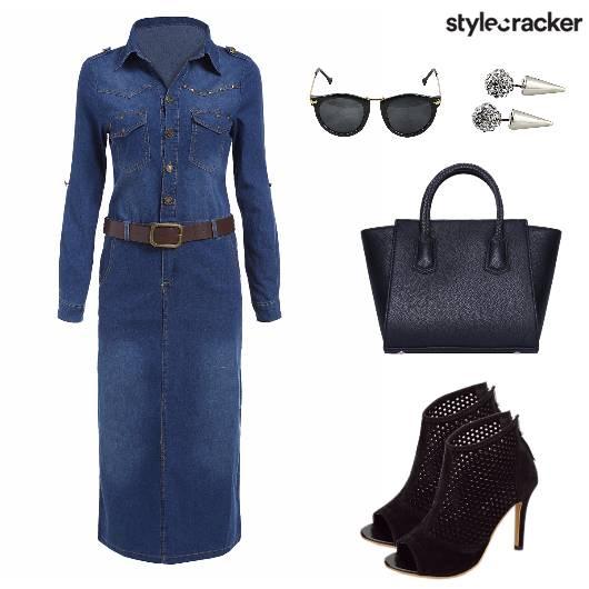 DenimShirtDress CasualWorkDay AMtoPM - StyleCracker