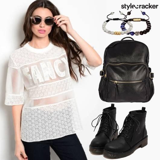 Casual Boots Bagpack Beaded Bracelets  - StyleCracker