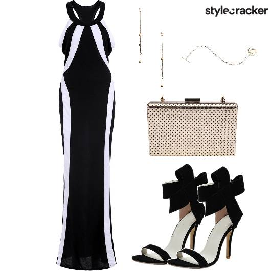 Monochrome Maxi Cocktail  - StyleCracker