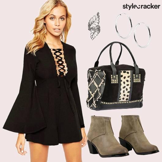 Laceup Dress Boots Weekender Hoops - StyleCracker