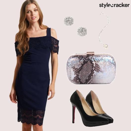 Cocktail Navy Lace Dress Date - StyleCracker