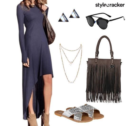 HighLow Dress Fringe FleaMarket Causal  - StyleCracker