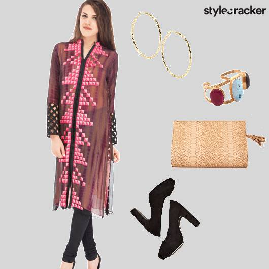 Kurta Indian Clutch PeepToes  - StyleCracker