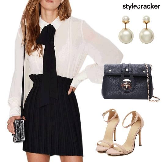 Bow Blouse Skirt Formal  - StyleCracker