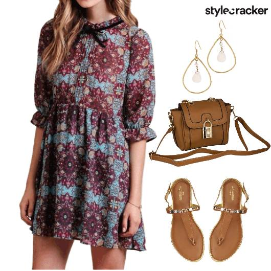 Prints Dress Causal Day  - StyleCracker