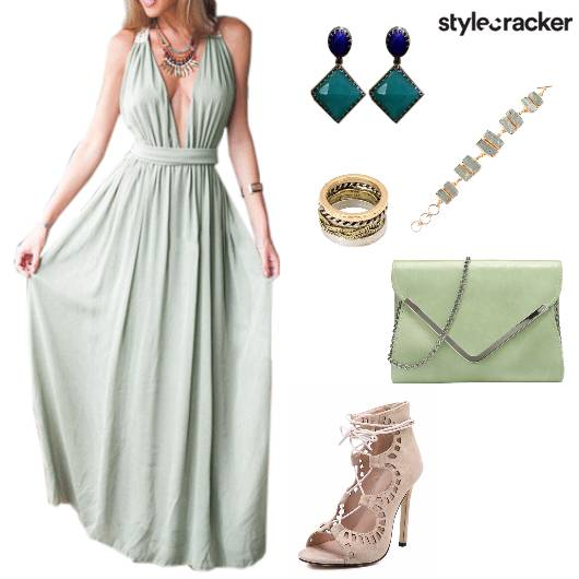 DeepNeck Gown Party - StyleCracker