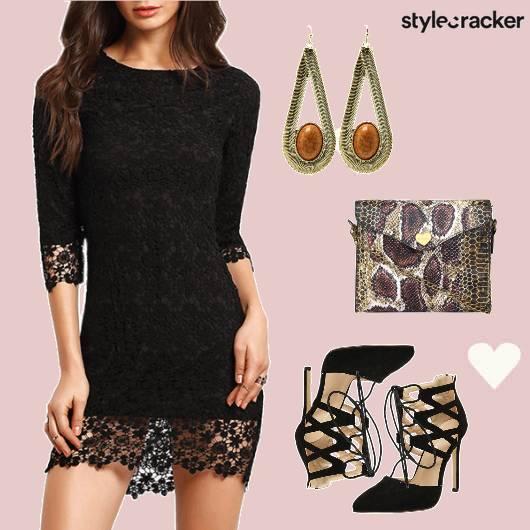 Lace Dress LaceUps Date Night  - StyleCracker