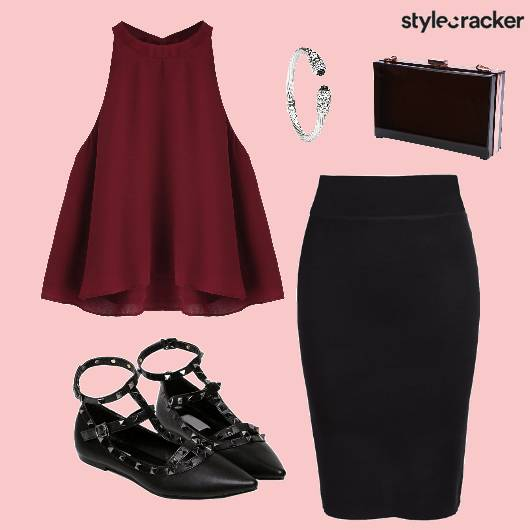 Top Skirt Shoes Bag Bracelet - StyleCracker