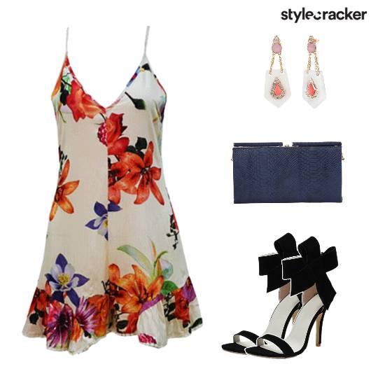 LunchDate FloralJumpsuit - StyleCracker