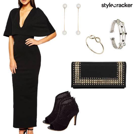 DeepNeck Long Dress Night Party - StyleCracker