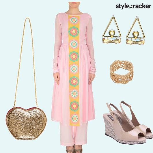 Anarkali Sling Ring Wedges Earrings - StyleCracker