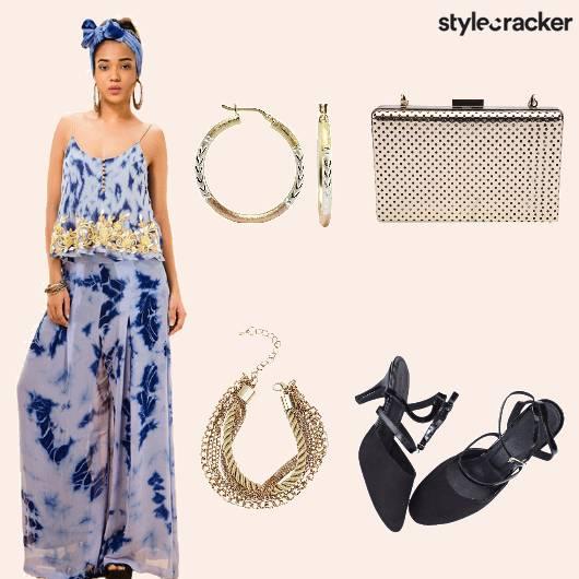 Pallazos Croptop Bracelet Clutch Hoops - StyleCracker