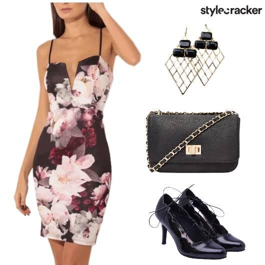 Dress FloralPrint Sling Earrings - StyleCracker