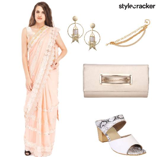 Saree Heels Clutch Earrings Bracelet - StyleCracker