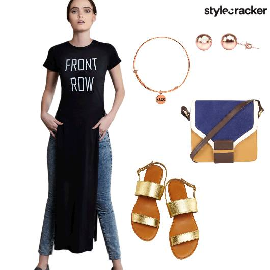 Casual SideSlitTop Denim Flats  - StyleCracker