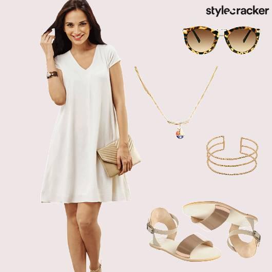 Dress Casual Flats Mettalic  - StyleCracker