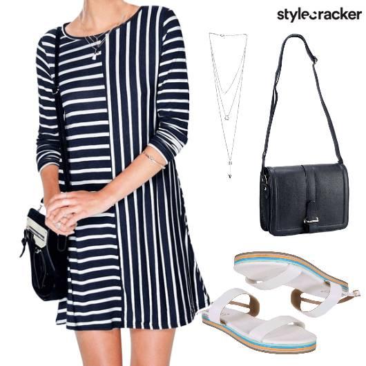 Stripes Casual Strappy  - StyleCracker