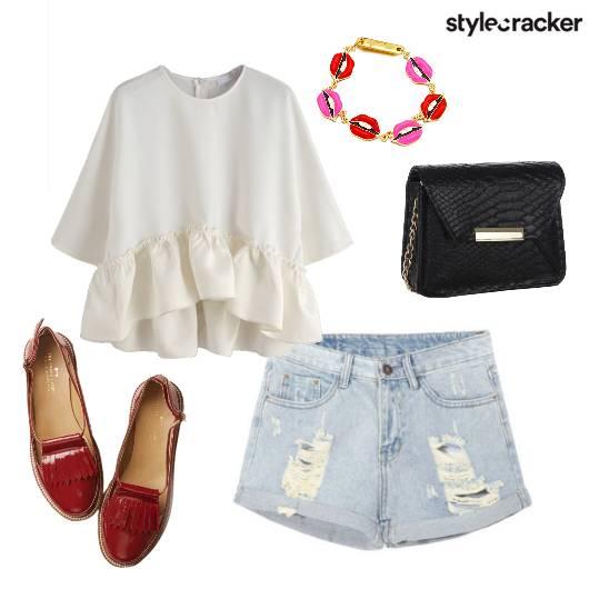 Date Ruffles Shorts  - StyleCracker