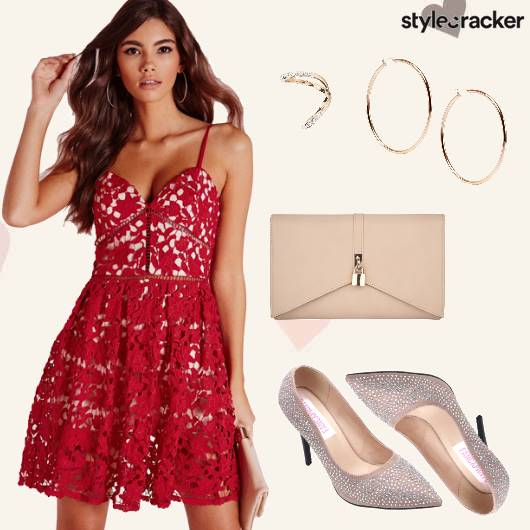 Lace Date Night Studded Heels  - StyleCracker