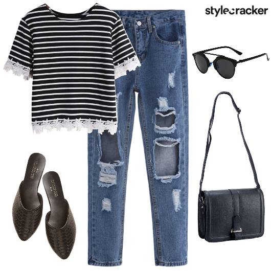 Ripped Denim Casual  - StyleCracker