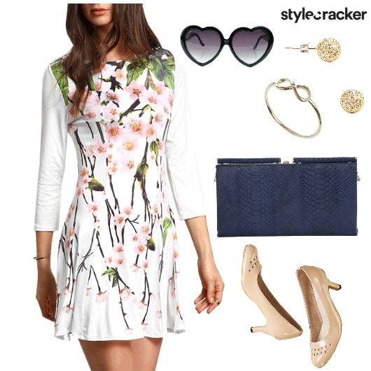 Print Dress Lunch Date - StyleCracker