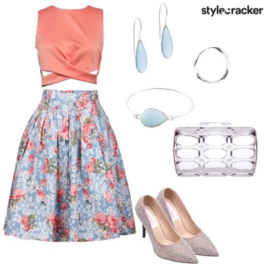 Floral Skirt Dinner Date - StyleCracker