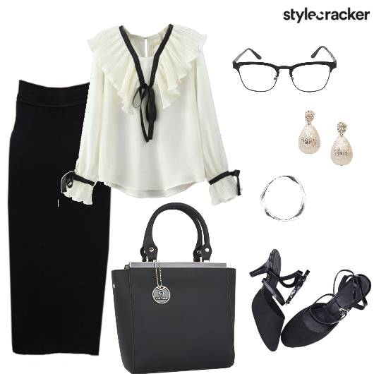 Skirt Shirt Formal Work  - StyleCracker