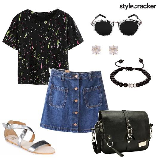 Tshirt Skirt Movie Shopping - StyleCracker