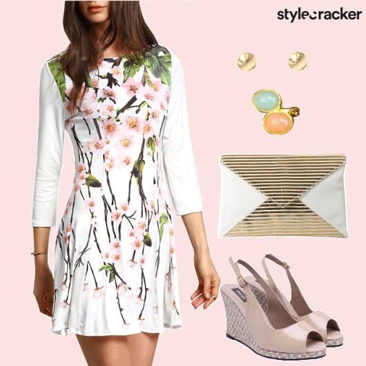 FloralDress Brunch Wedges - StyleCracker