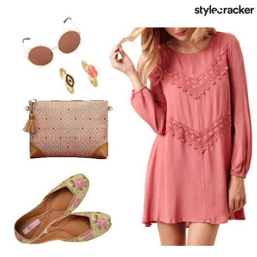 Casual Day Dress LaceDetails - StyleCracker