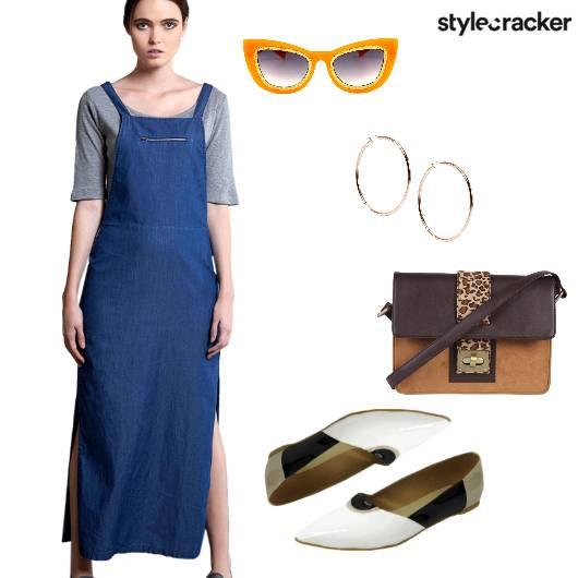 Pinafore dress Casual  - StyleCracker
