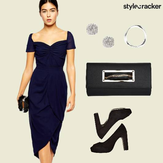 Navy Cocktail Dress  - StyleCracker