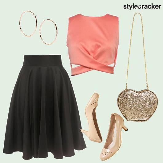 Skirt Crop Glitterbag Hoops - StyleCracker