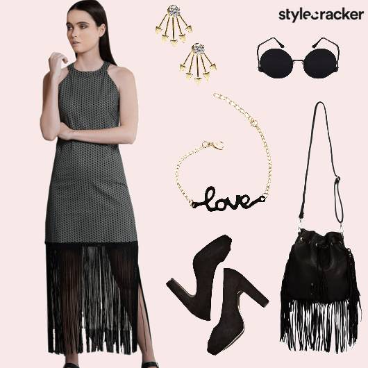 Dress Peeptoes Bucketbag Party - StyleCracker
