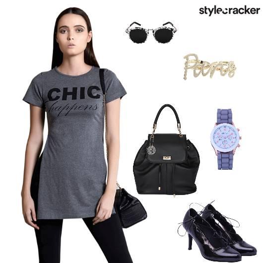 Tshirt Leggings Pumps Backpack  - StyleCracker