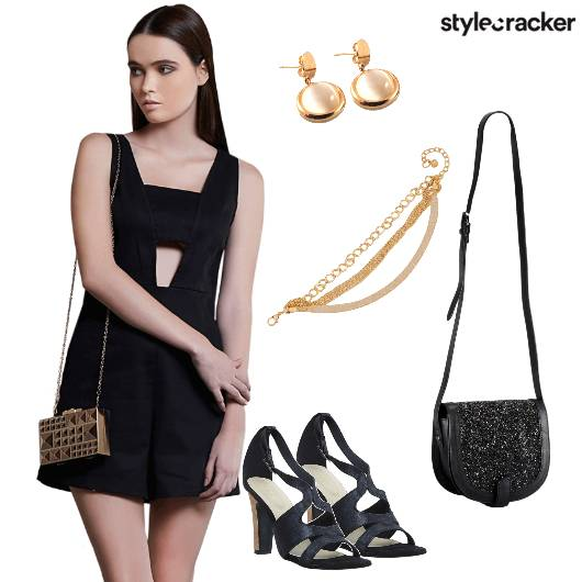 Playsuit heels Slingbag Party - StyleCracker