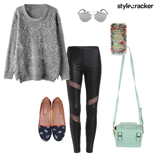 Sweater Leggings Slingbag Casual - StyleCracker