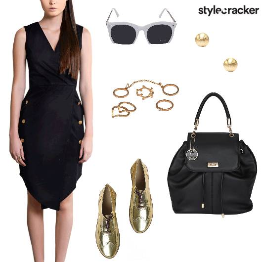 VNeck Dress Event Day  - StyleCracker