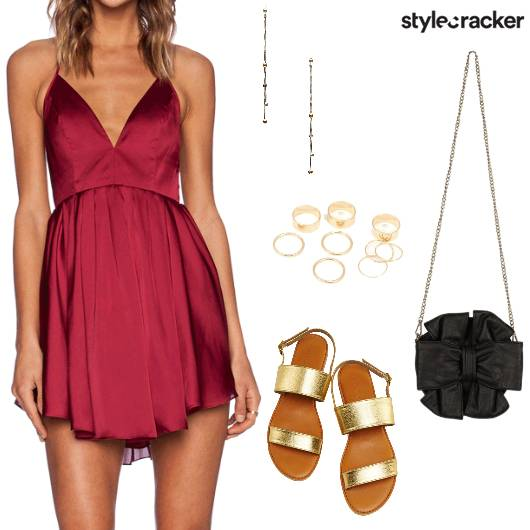 VNeck Dress Night BeachParty - StyleCracker