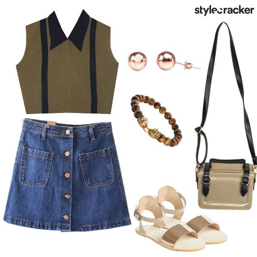 Crop Skirt Casual Outing - StyleCracker