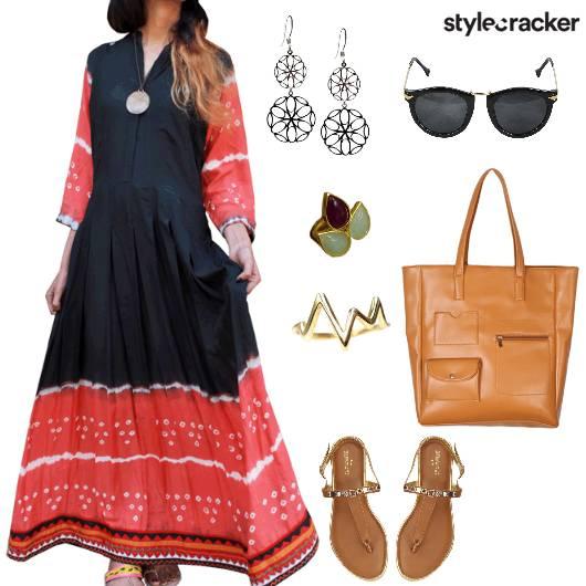 Indian Print Dress Casual  - StyleCracker