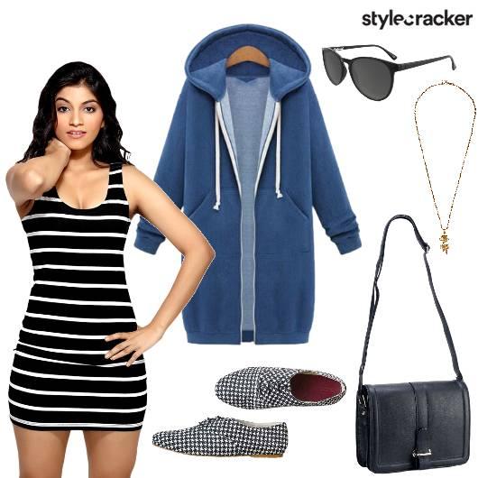 Stripe Dress Overcoat Travel - StyleCracker