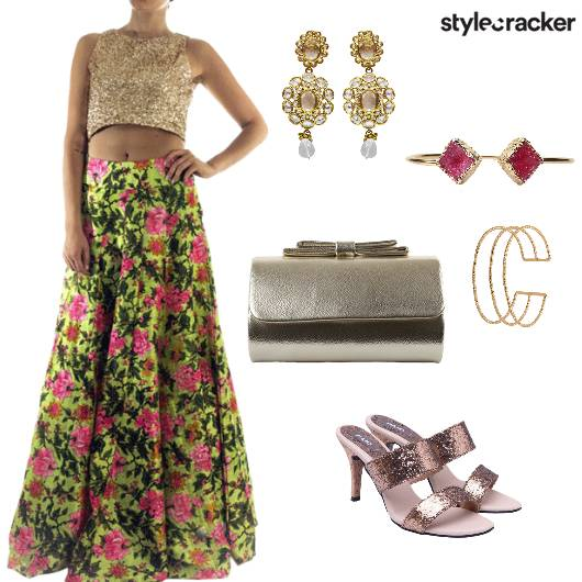 Floral Lehenga Indian Ethnic Wedding  - StyleCracker