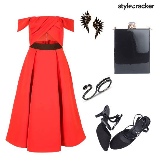 Dress Earrings OffShoulder Heels Sling - StyleCracker