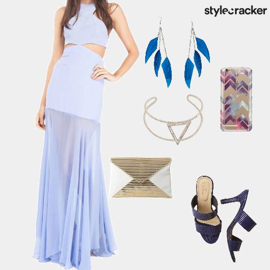 Maxidress Heels Clutch Party - StyleCracker