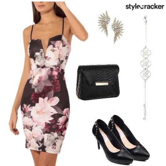 Bodycondress Heels Slingbag Floral - StyleCracker